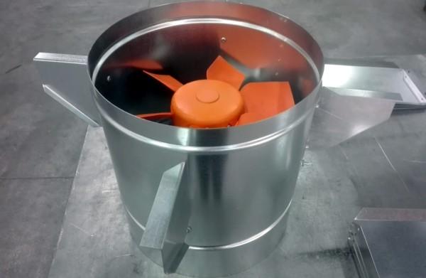 Ventiladores mixtos para tubo chapa for Tubo extractor cocina