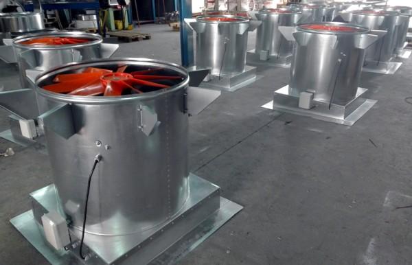 Ventiladores con extractor y registro