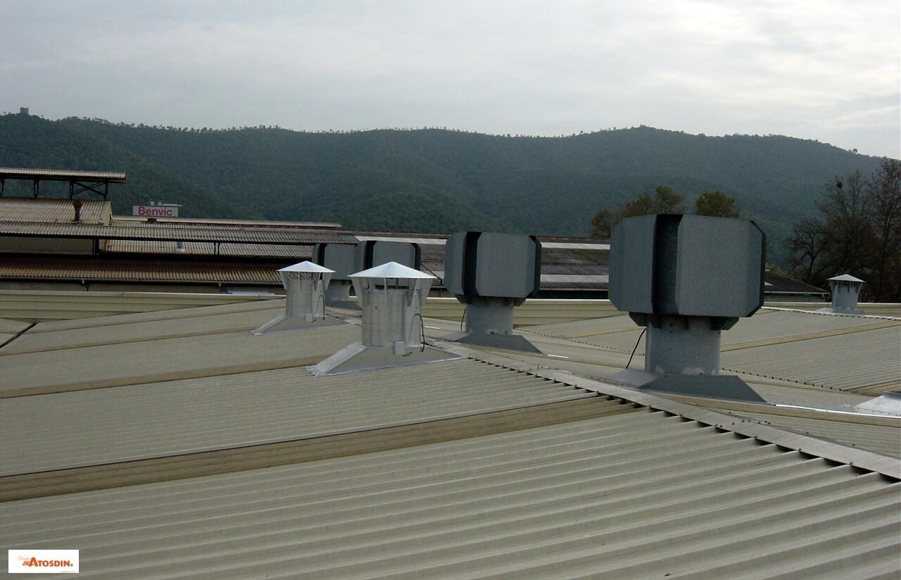 Ventiladores de tejado para naves industriale…
