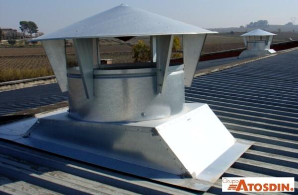Ventilación Industrial en Cubierta